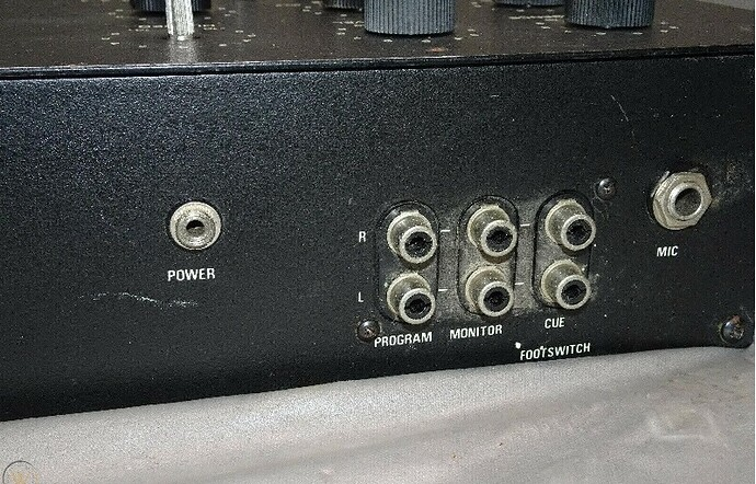 Back of mixer right side RS